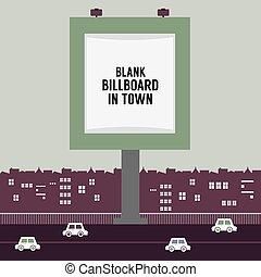 tablica ogłoszeń, reklama, town.