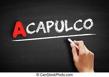 tablica, tekst, acapulco