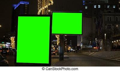 tablice ogłoszeń, zielony, dwa, screen.