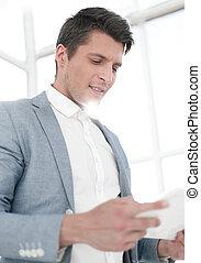 tabliczka, up.businessman, cyfrowy, zamknięcie