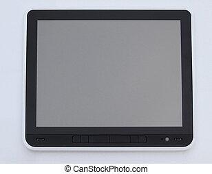 tabliczka, up.digital, screen., przestrzeń, zamknięcie, kopia, czysty, fotografia
