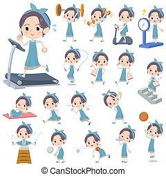 tablier, mom_exercise, hairband