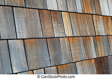 tablillas, madera, techo embaldosado