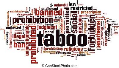 Taboo word cloud
