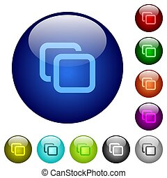 Tabs color glass buttons