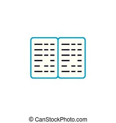 Tabulated report vector thin line stroke icon. Tabulated report outline illustration, linear sign, symbol isolated concept.