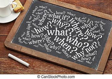 tabule, brainstorming, dotazy