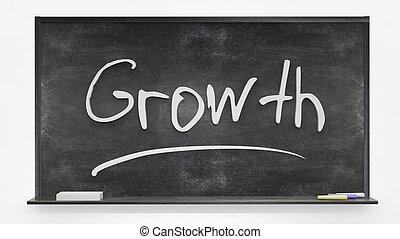 tabule, napsáný, nárůst