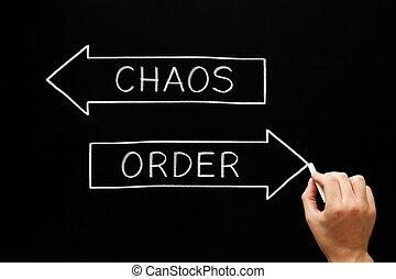 tabule, pojem, šípi, chaos, řád