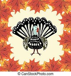 tacchino, autunno parte, ringraziamento, fondo