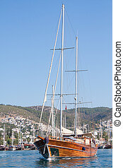 tacchino, bodrum, navigazione, abbandono, marina, barca