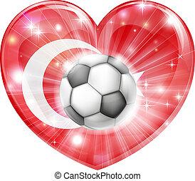tacchino, cuore, bandiera, calcio