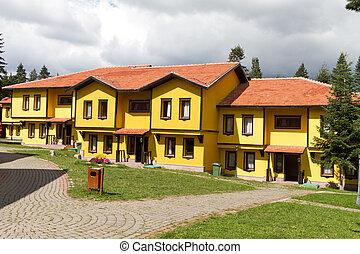 tacchino, kastamonu, case, tradizionale, turco