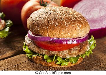 tacchino, pagnotta hamburger, casalingo