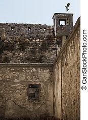 tacchino, pareti, storico, abbandonato, prigione