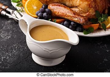 tacchino, piatto, pietanza, sugo, salsa, casalingo