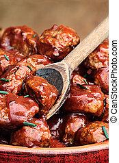 tacchino, polpette carne, delizioso