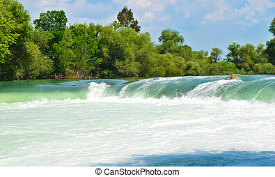 tacchino, primavera, cascata, manavgat