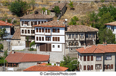 tacchino, tradizionale, safranbolu, ottomano, case