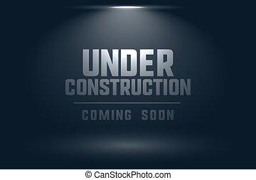 tache, fond, lumière, venir, construction, bientôt