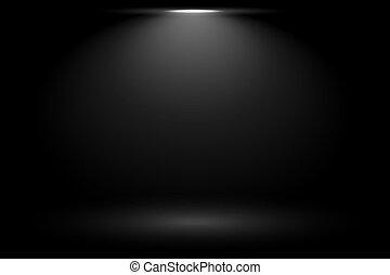 tache, lumière noire, fond, foyer