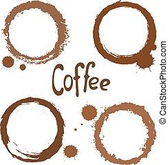 taches, ensemble café