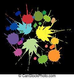 taches, ensemble, coloré
