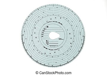 Tachograph on white background