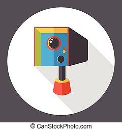 Tachometer camera flat icon