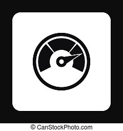 Tachometer icon in simple style