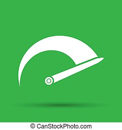 Tachometer icon on the green background