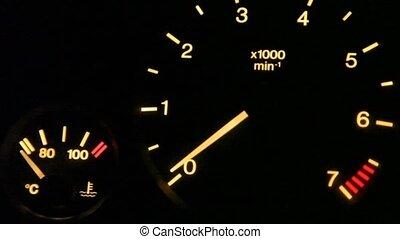 tachometer indication