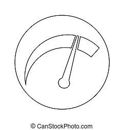 tachometer, ontwerp, illustratie, pictogram