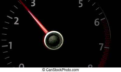 tachometer RPM on the dashboard