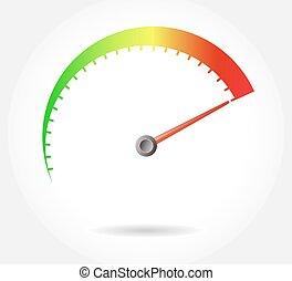 speedometer - vector illustration