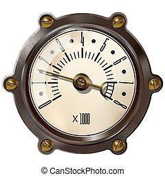 tachometer - Tachometer isolated on white background. ...
