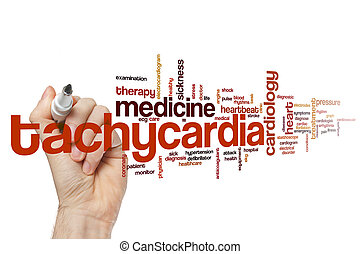 Tachycardia word cloud