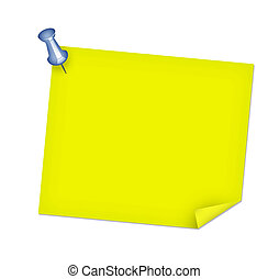 Tacked Post Note
