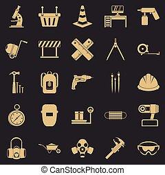 tackling, sätta, stil, enkla symboler
