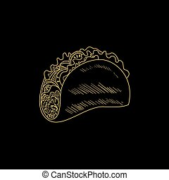 Taco Hand Drawn Sketch