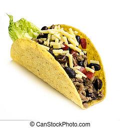 Taco Isolated on White Background