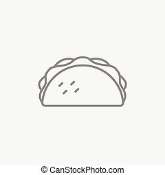 Taco line icon. - Taco line icon for web, mobile and...