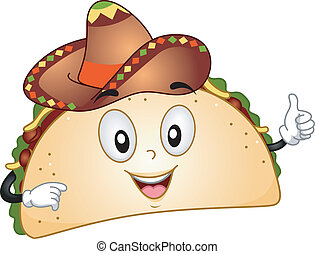 Taco Mascot - Mascot Illustration Featuring a Taco