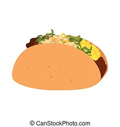 taco mexican food icon