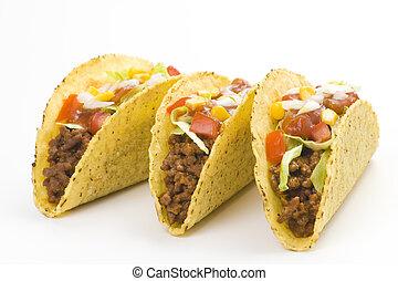 taco, nourriture, délicieux, mexicain
