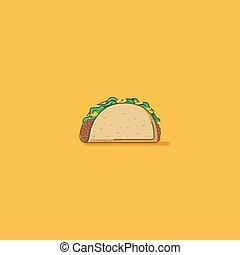 Taco - Street food taco illustration