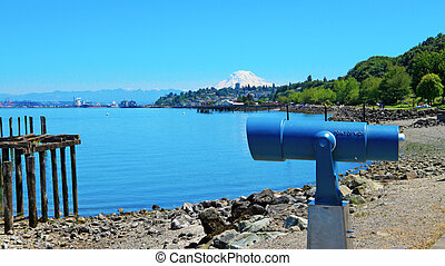 Tacoma during summer time