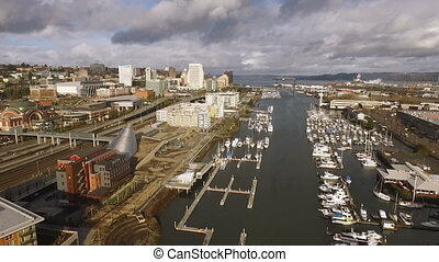 Tacoma Washington Thea Foss Waterway Commencment Bay...