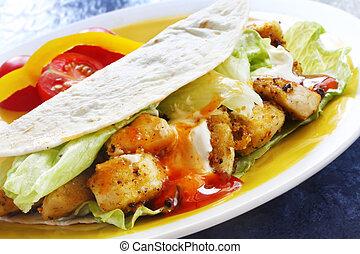 tacos, chicken