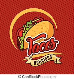 tacos delicious mexican food vegetables poster